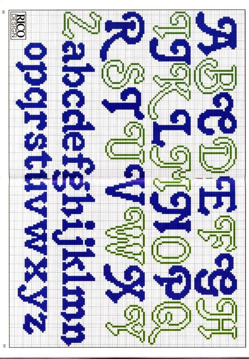 Graficos Para Ponto Cruz Alfabeto Clique Na Imagem Para Obter O