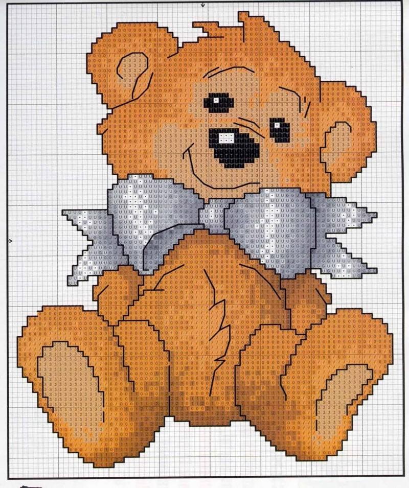 Gr  Ficos Para Ponto Cruz   Ursos